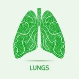 Abstrakta mänskliga lungor Grafisk illustration arkivbilder