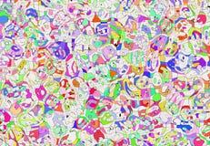 Abstrakta mångfärgade målade mosaikpatchworkbakgrunder Arkivfoto