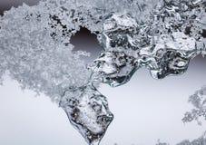 Abstrakta makroiskristaller Arkivfoto
