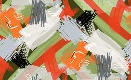 Abstrakta markör- och färgpulverslaglängder gör grön röd vit Arkivbild
