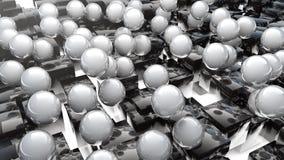 Abstrakta marmorsfärer och kuber Arkivfoton