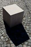 Abstrakta marmurowy sześcian Fotografia Royalty Free