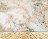 Abstrakta marmuru ścienna i drewniana cegiełka deseniował tekstury tło (naturalnych wzorów) Obraz Royalty Free
