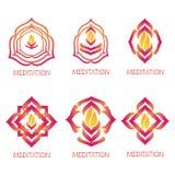 Abstrakta meditationlogoer Arkivfoto