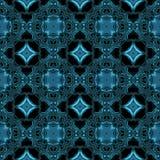 Abstrakta metalliska blåa viking eller celtic som modell gjorde sömlöst Vektor Illustrationer