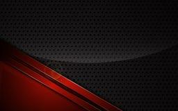 Abstrakta metalliska röda ramsportar planlägger mallen för bakgrund för techinnovationbegreppet stock illustrationer
