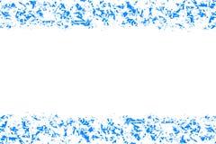 Abstrakta modell-, blått- och vitfärger, designbakgrund med den tomma mitten, textställe Arkivfoto