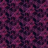 Abstrakta moderna glödande rosa färger binder tolkningen för bakgrund 3d Arkivfoton