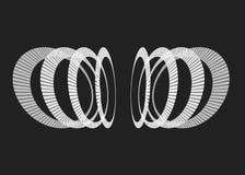 Abstrakta monochromu częstotliwi okręgi w perspektywie Zdjęcia Royalty Free