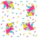 Abstrakta niedźwiedź z trójbokami i colour ilustracja wektor
