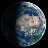 abstrakta obrazu świata gładka powierzchnia planety zmielonej Obraz Royalty Free