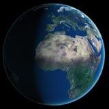 abstrakta obrazu świata gładka powierzchnia planety zmielonej Zdjęcia Stock