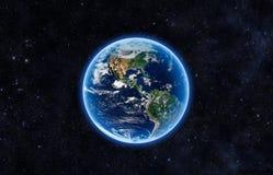 abstrakta obrazu świata gładka powierzchnia planety zmielonej Obrazy Royalty Free