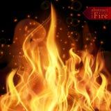 Abstrakta ogień płonie wektorowego tło Ilustracyjny Gorący ogień Zdjęcia Royalty Free