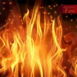 Abstrakta ogień płonie wektorowego tło Ilustracyjny Gorący ogień Obraz Royalty Free