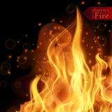 Abstrakta ogień płonie wektorowego tło Ilustracyjny Gorący ogień Zdjęcie Stock
