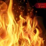 Abstrakta ogień płonie wektorowego tło Ilustracyjny Gorący ogień Obrazy Stock