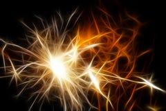 abstrakta ogień Zdjęcie Royalty Free