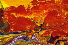 Abstrakta ogień na lodzie, olej na brezentowym obrazie Zdjęcie Stock