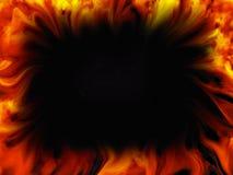 Abstrakta ogienia płomieni rama na czarnym tle ilustracja wektor