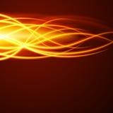 Abstrakta ogienia płomienia światło na czarnej tło wektoru ilustraci Zdjęcia Stock