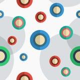 abstrakta okregów ilustraci wzoru bezszwowy wektor Obraz Royalty Free