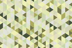 Abstrakta Olive Green Polygon Geometric Background framförande 3d Royaltyfria Bilder
