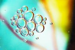 Abstrakta olja- och vattenbubblor Royaltyfri Bild