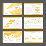 Abstrakta orange presentationsmallInfographic beståndsdelar sänker designuppsättningen för marknadsföring för broschyrreklambladb Royaltyfri Foto