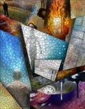 abstrakta płatowaty wielo- obrazy stock