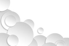 Abstrakta papieru okręgu projekta srebra tła tekstura Zdjęcie Stock
