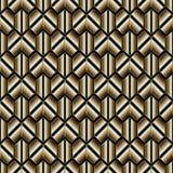 Abstrakta pasiasty geometryczny bezszwowy wzór Nowożytny wektorowy czerń royalty ilustracja