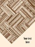 Abstrakta pasiasty geometryczny plemienny wzór ilustracji