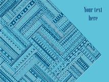 Abstrakta pasiasty geometryczny plemienny wzór Wektorowy błękitny i biały tło Tekstura może używać dla tapety, deseniowe pełnie,  ilustracji