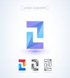 Abstrakta pilar för vektor och logomall för bokstav Z Applikation I Royaltyfria Bilder