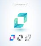 Abstrakta pilar för vektor och mall för bokstavsnolla-logo Applikation I Royaltyfria Foton