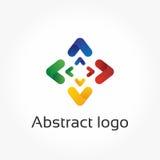Abstrakta pilar, vektorlogomall, riktningsdesignbeståndsdel Royaltyfria Bilder