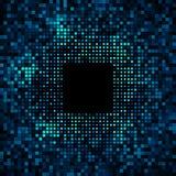 Abstrakta PIXELblått - grön ljus glödbakgrund Royaltyfri Bild