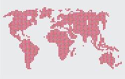 Abstrakta prickar för runda för världskarta för datordiagram stock illustrationer
