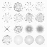 Abstrakta prickformer, uppsättning av designbeståndsdelar Royaltyfri Fotografi