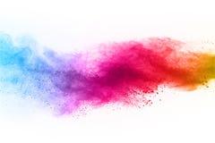 abstrakta proszek splatted tło Kolorowy prochowy wybuch na białym tle obrazy stock