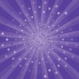 Abstrakta purpurfärgade strålar och stjärnabakgrund Cmyk för vektorEPS 10 Royaltyfri Bild