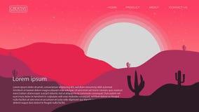 abstrakta pustynnego tła wektorowy ilustracyjny szablon stosowny dla lądować strona sztandaru magazynu inny i plakat ilustracji