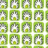 Abstrakta quadratic lotusblommor Royaltyfri Illustrationer