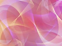 Abstrakta różowy 3d tło z faborkami ilustracja wektor
