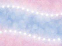 Abstrakta różowy i lily tło z gwiazdami royalty ilustracja