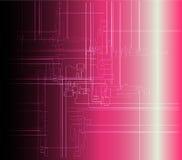 Abstrakta różowy tło techniczny Zdjęcia Stock