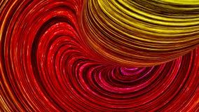 Abstrakta röda färglinjer och gul illustration 3d Arkivfoton