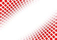 Abstrakta röda fyrkanter Arkivfoton