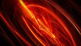 Abstrakta röda gnistor av den varma lavan Royaltyfri Bild